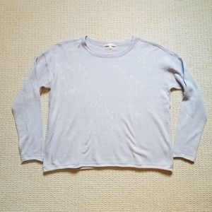 Lisa Todd splatter paint lilac sweater size M